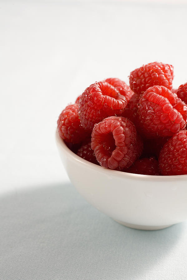 Bowl Of Raspberries Photograph  - Bowl Of Raspberries Fine Art Print