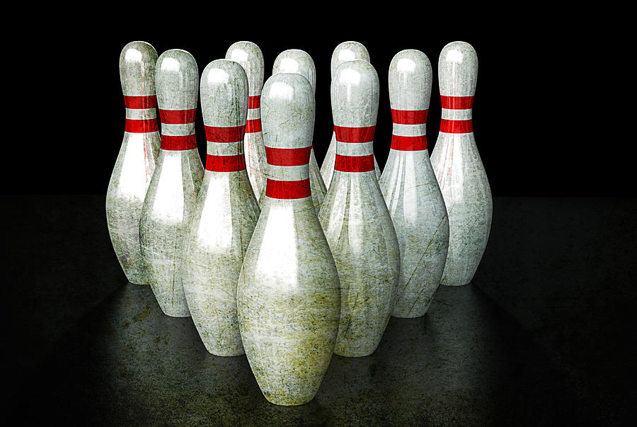 Bowling Pins Digital Art