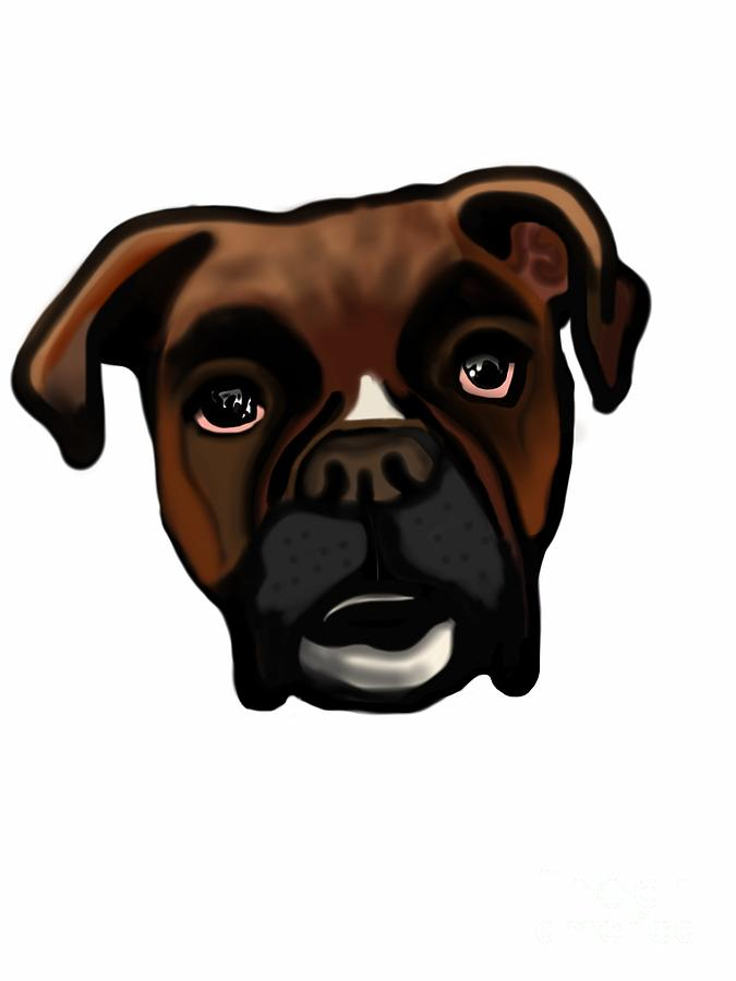Boxer Buddy Digital Art  - Boxer Buddy Fine Art Print
