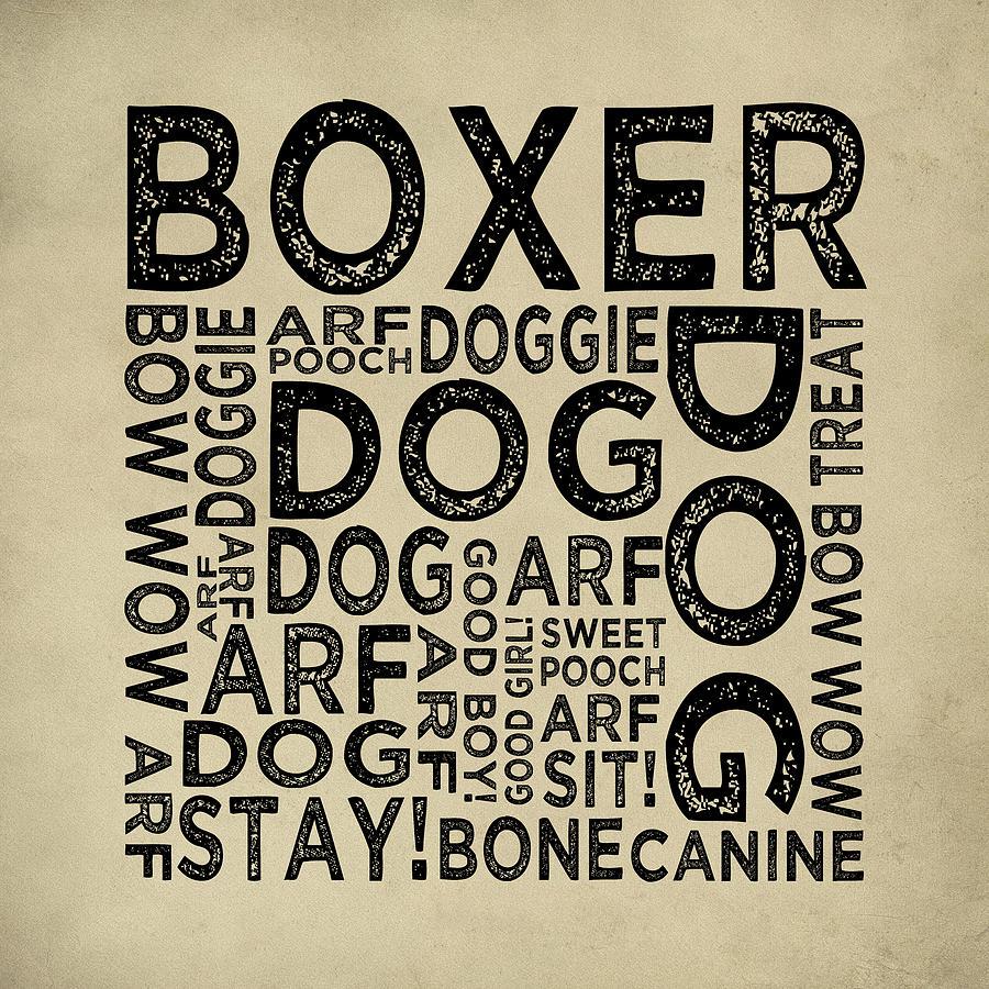 Boxer Typography Digital Art