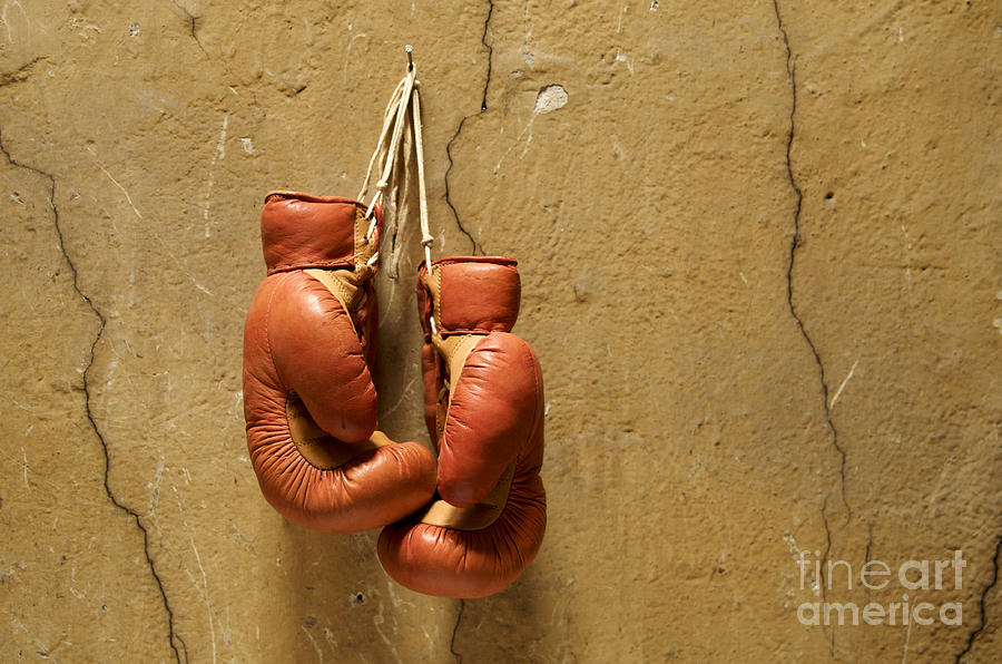 Strength Photograph - Boxing Gloves by Bernard Jaubert