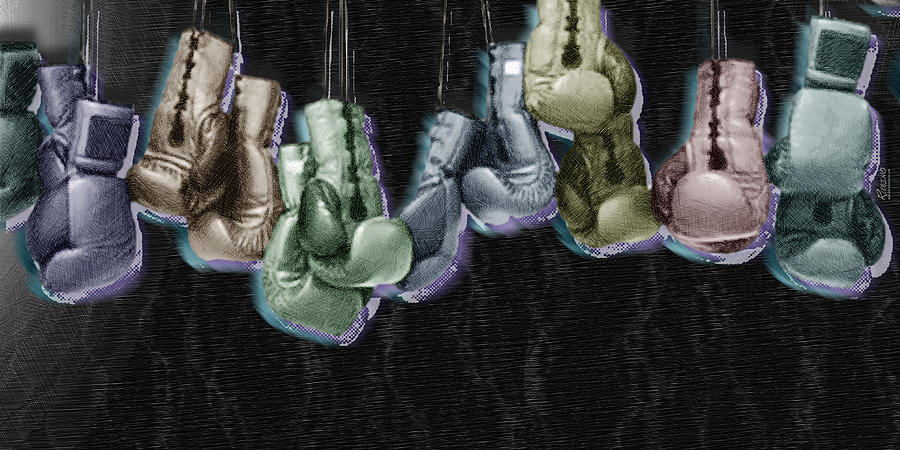 Boxing Gloves Painting  - Boxing Gloves Fine Art Print
