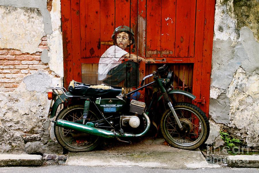 Boy On A Bike Photograph