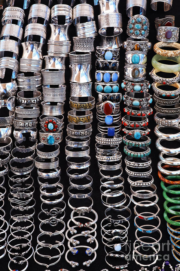Bracelets At Anjuna Market Photograph