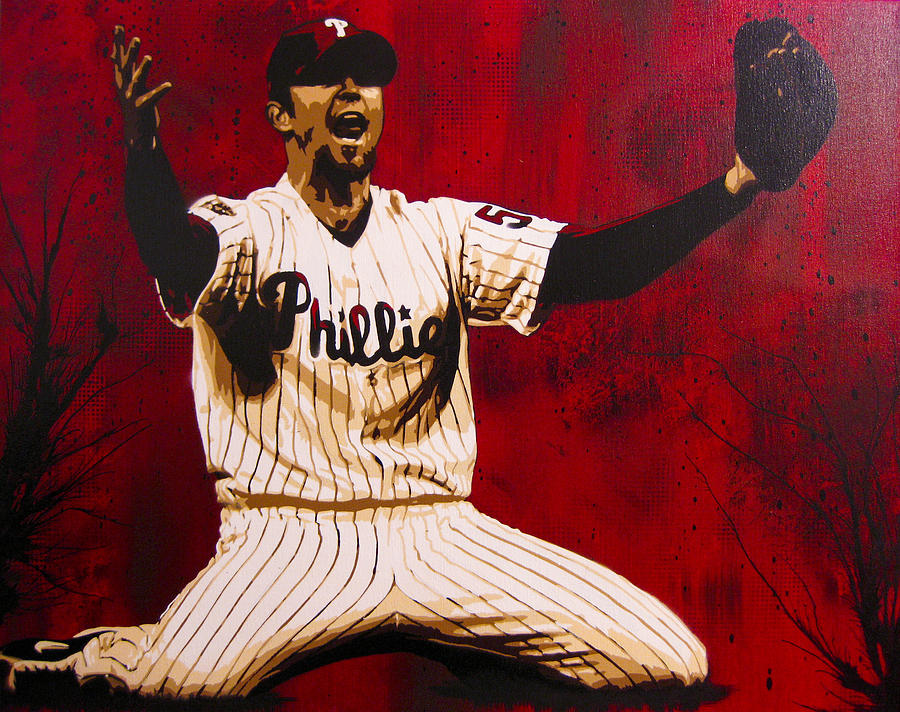 Brad Lidge  Painting  - Brad Lidge  Fine Art Print