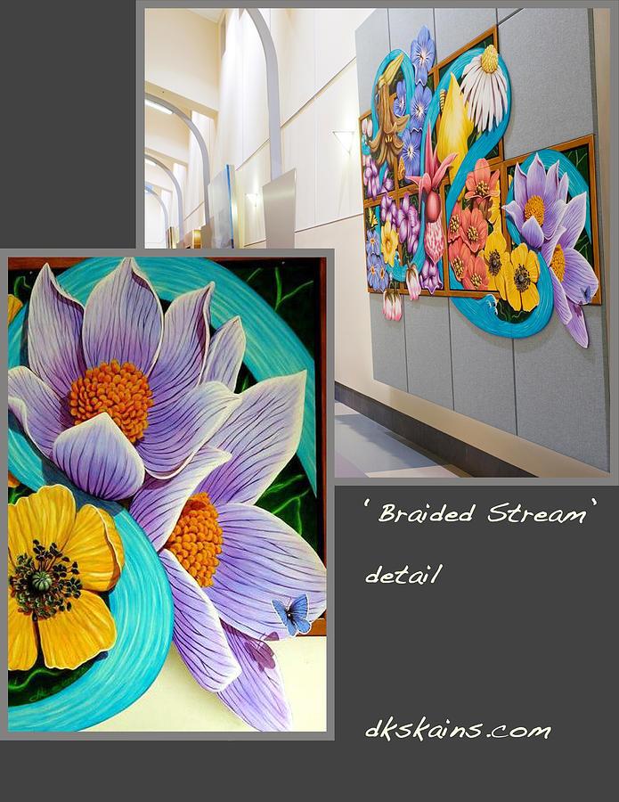 Mural Painting - Braided Stream by Dorinda K Skains