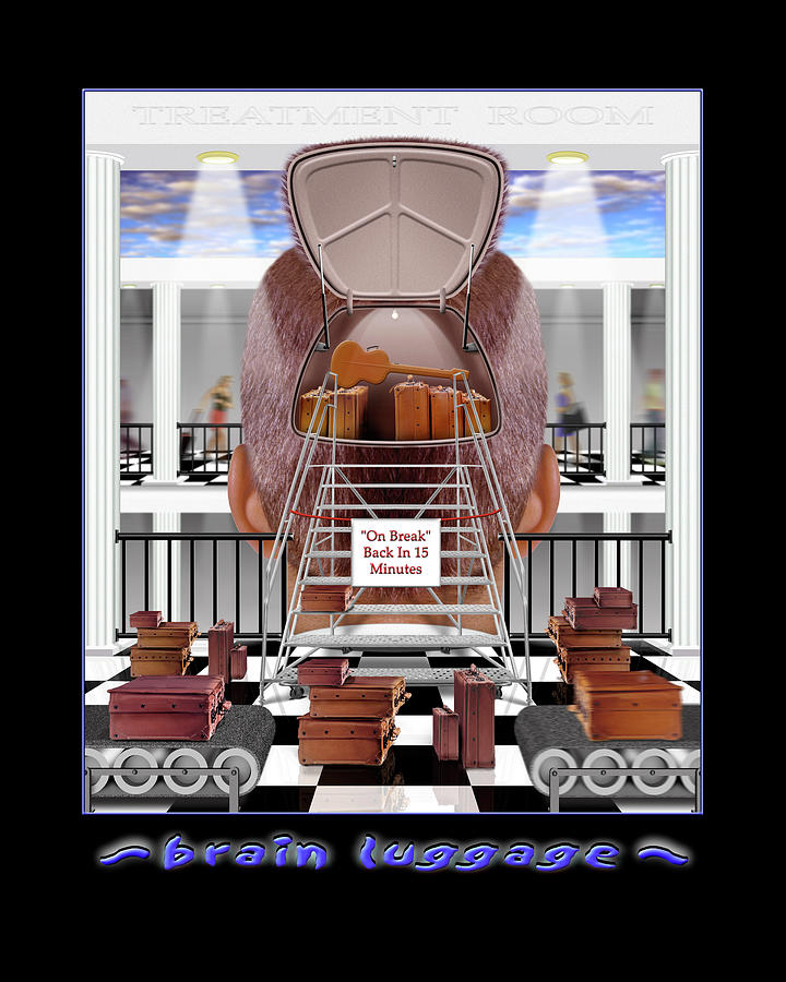 Brain Luggage Photograph  - Brain Luggage Fine Art Print