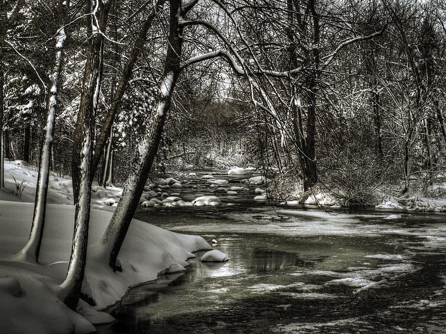Brainards Bridge After A Snow Storm 4 Photograph