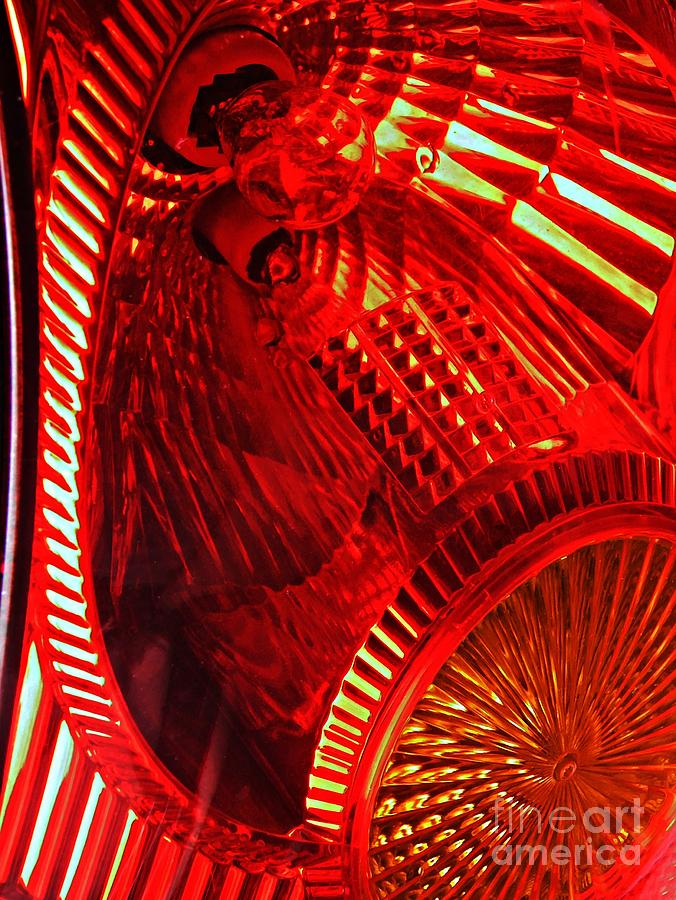 Brake Light 42 Photograph  - Brake Light 42 Fine Art Print
