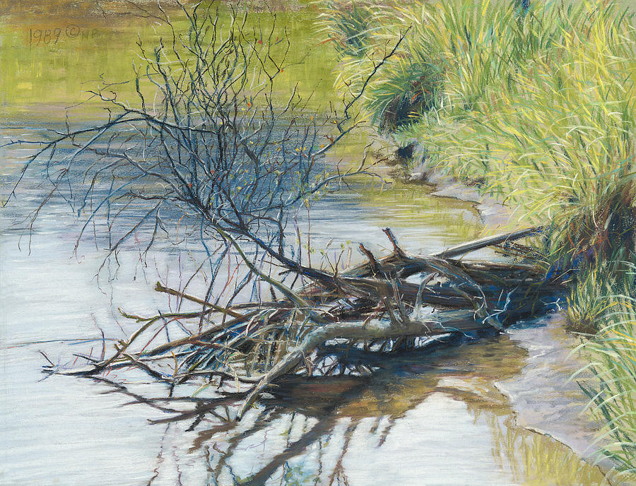 Branches By A River Bank Painting