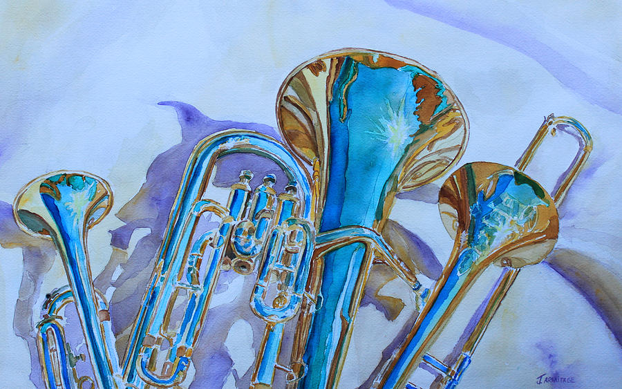 Brass Candy Trio Painting  - Brass Candy Trio Fine Art Print