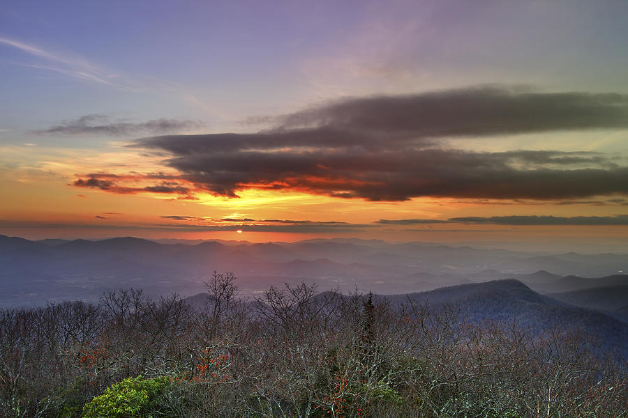 Brasstown Bald At Sunset is a photograph by Debra and Dave Vanderlaan ...
