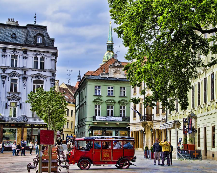 Bratislava Town Square Photograph