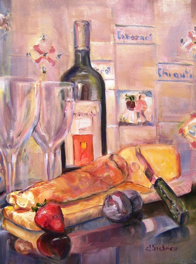 Bread And Wine Painting  - Bread And Wine Fine Art Print
