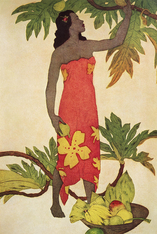 Breadfruit Girl Painting