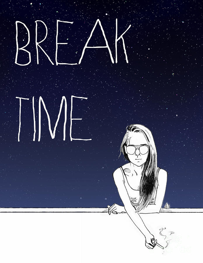 break time drawing by marie jeon