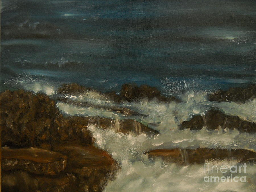 Breaking Waves Painting  - Breaking Waves Fine Art Print