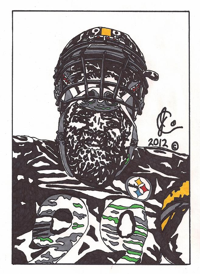 Brett Keisel 2 is a drawing by Jeremiah Colley which was uploaded on ...