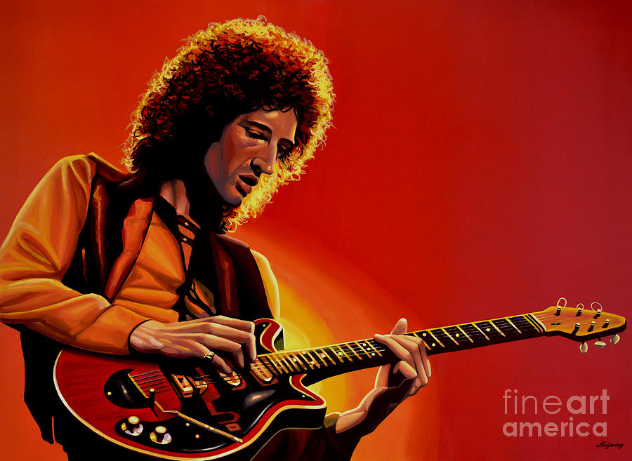 Brian May Painting  - Brian May Fine Art Print