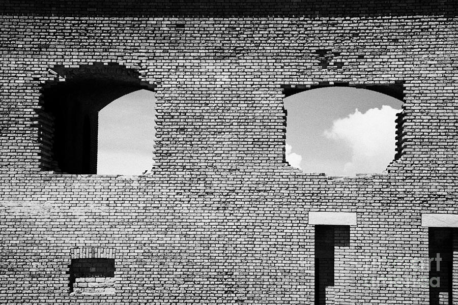 Brick Construction Of The Walls Of Fort Jefferson Dry Tortugas National Park Florida Keys Usa Photograph