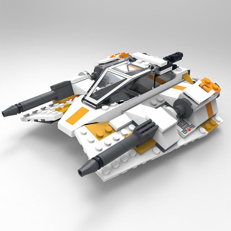 Brick Snowspeeder Digital Art