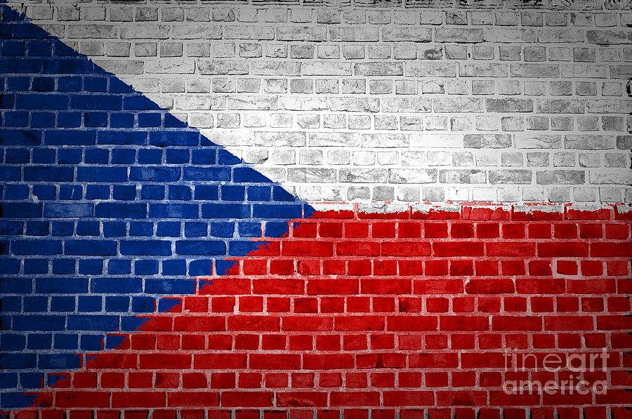 Brick Wall Czech Republic Digital Art  - Brick Wall Czech Republic Fine Art Print