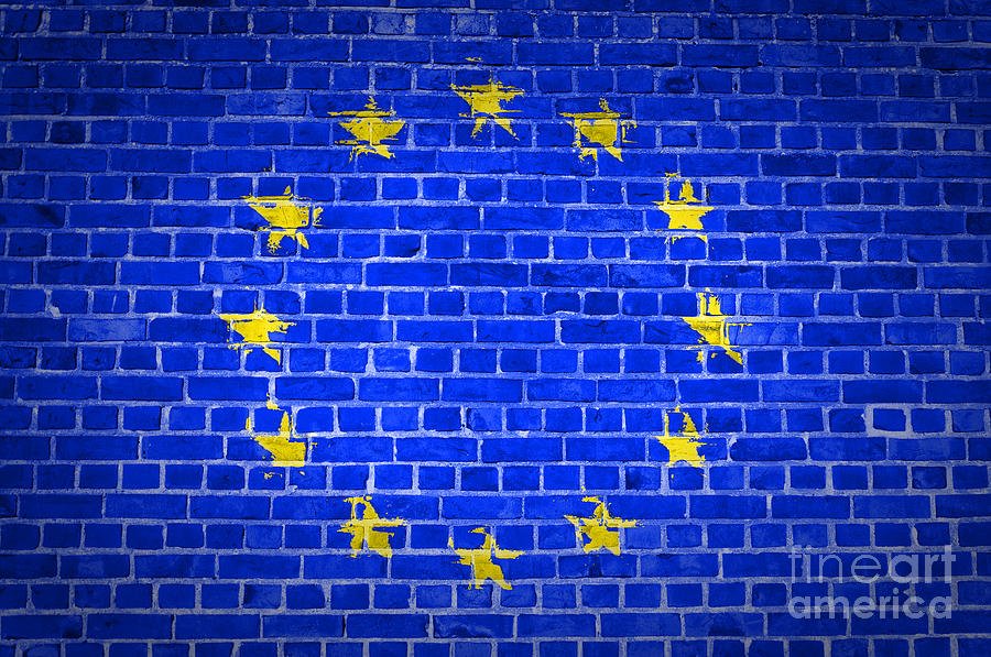 Brick Wall European Union Digital Art