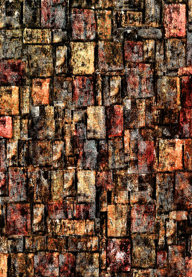 Brick Wall Digital Art  - Brick Wall Fine Art Print