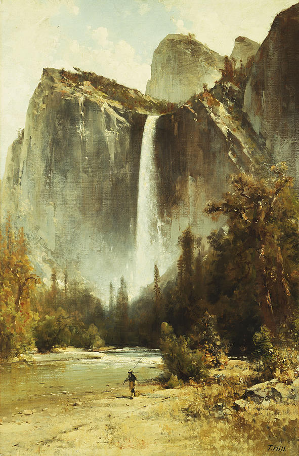 19th Century Painting - Bridal Falls by Thomas Hill