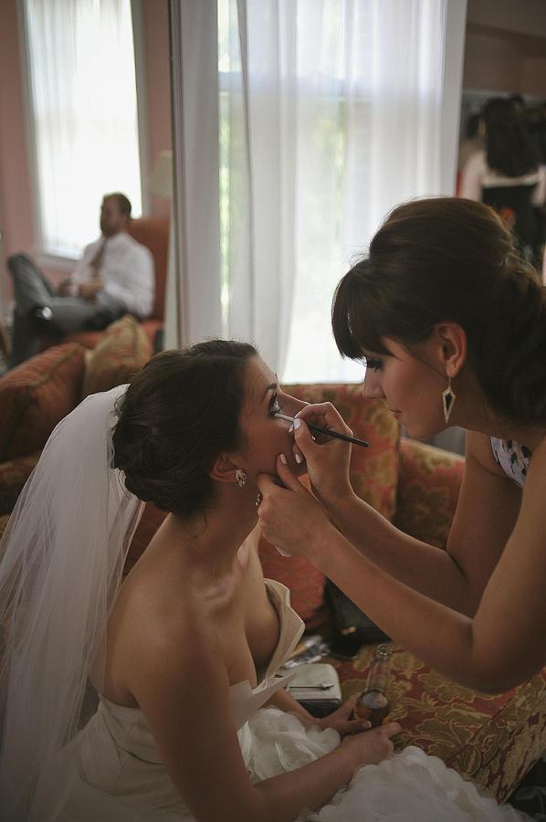 Bride Photograph - Bride Eyeliner by Mike Hope