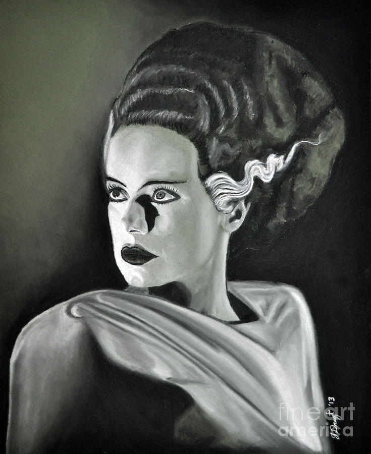Bride Of Frankenstein Drawing  - Bride Of Frankenstein Fine Art Print
