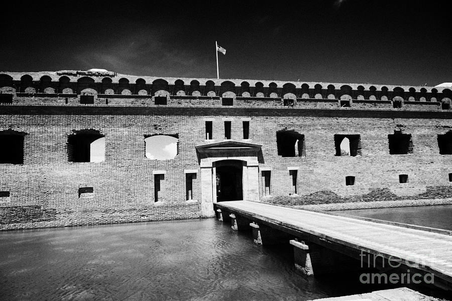 Bridge Across The Moat Sally Port Entrance To Fort Jefferson Dry Tortugas National Park Florida Keys Photograph