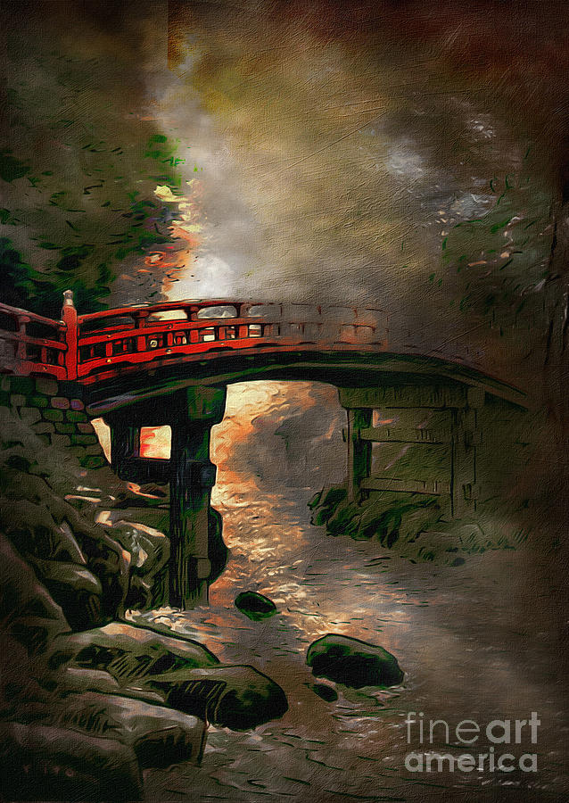 Bridge Digital Art  - Bridge Fine Art Print