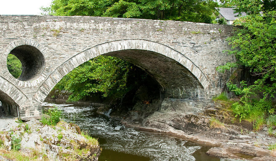 Bridge At Cenarth In Wales Photograph  - Bridge At Cenarth In Wales Fine Art Print