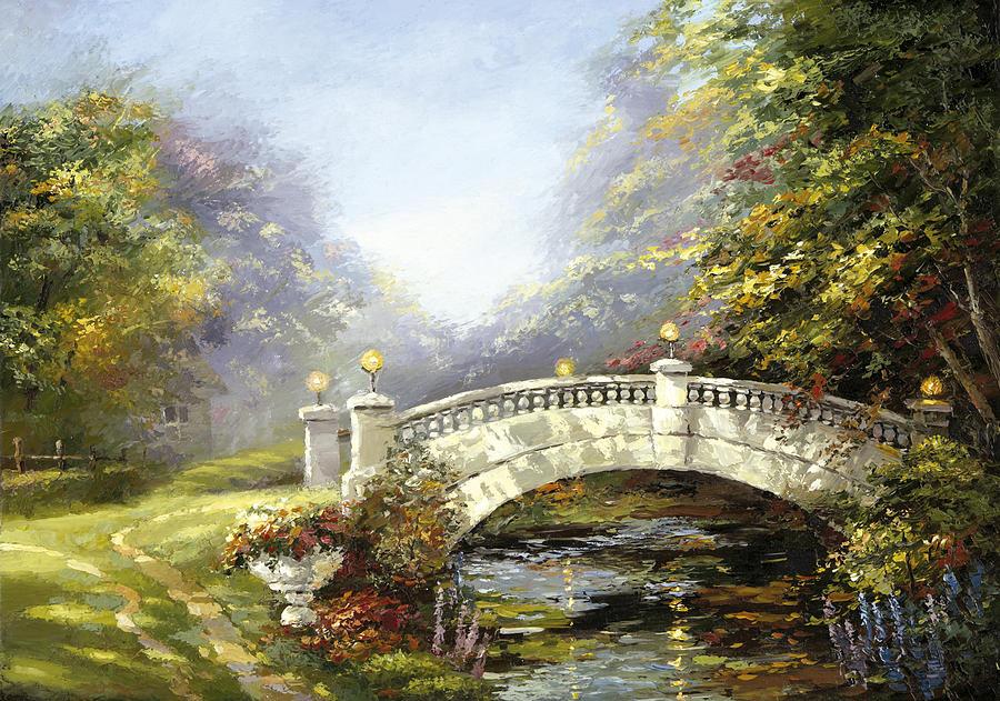 Bridge In The Park Painting