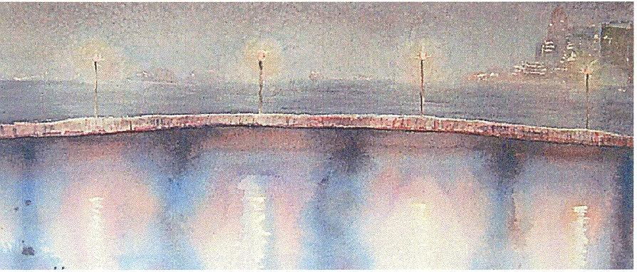 Bridge Lights Painting