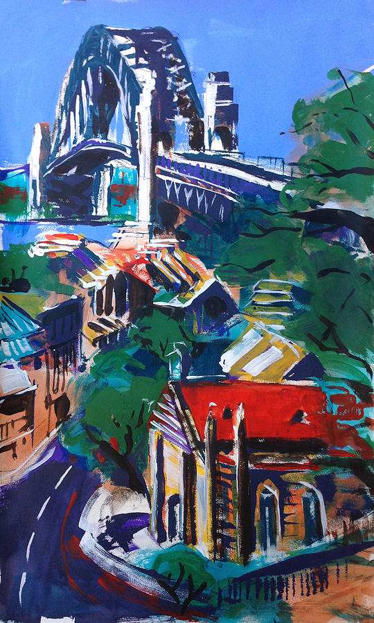 City Painting - Bridge Observed by Shirley  Peters