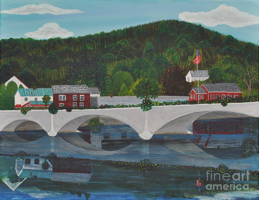 Bridge Of Flowers Painting  - Bridge Of Flowers Fine Art Print