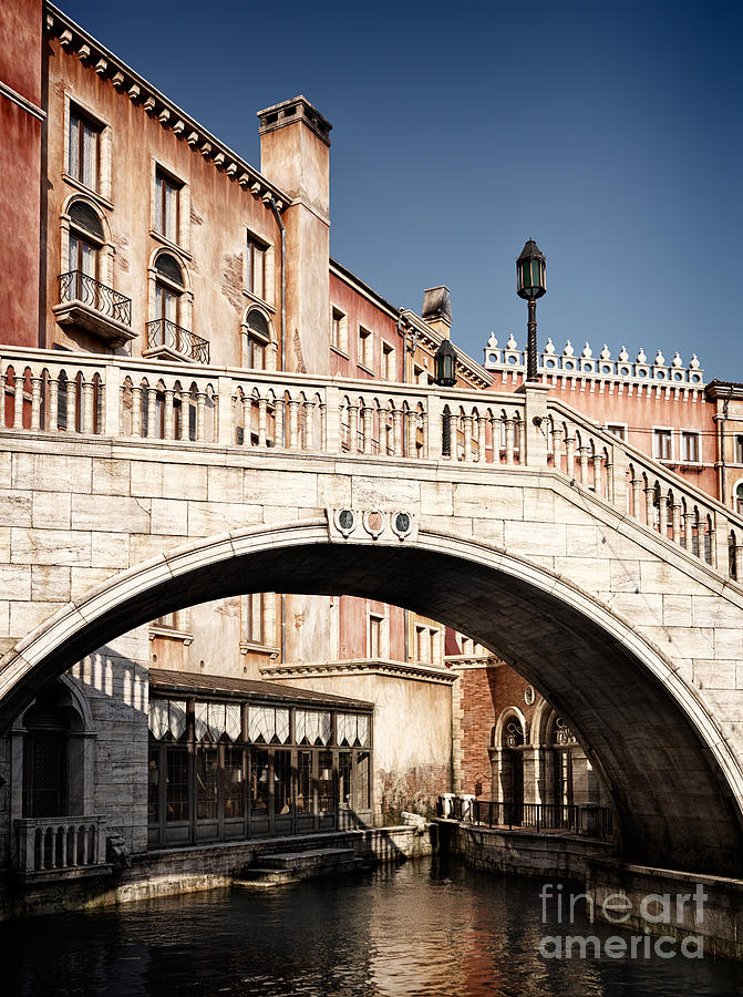 bridge over canal venetian architecture details by oleksiy maksymenko
