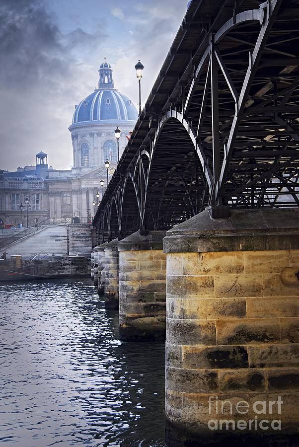 Bridge Over Seine In Paris Photograph  - Bridge Over Seine In Paris Fine Art Print