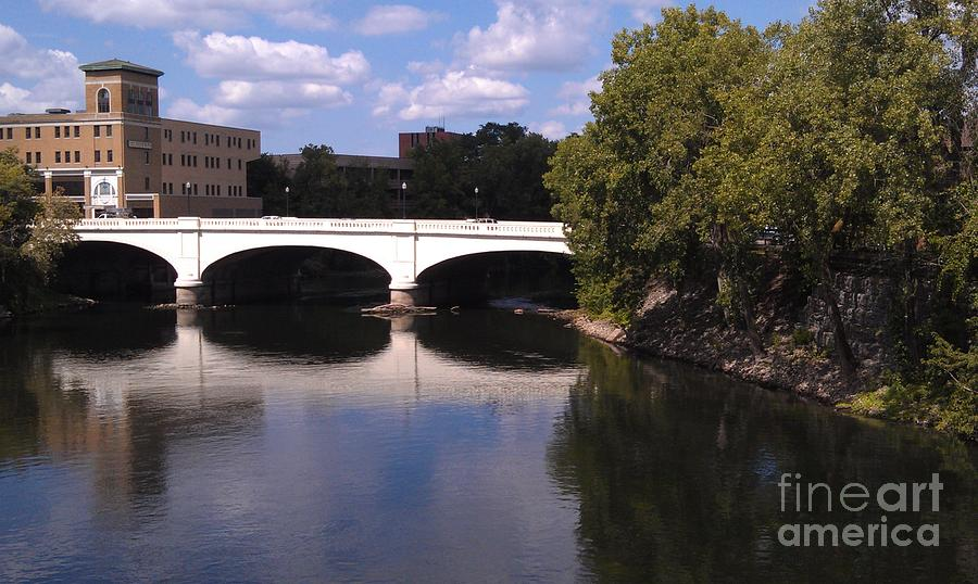 Bridge Over The St. Joseph River  --  South Bend Photograph  - Bridge Over The St. Joseph River  --  South Bend Fine Art Print