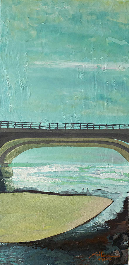 Bridge Where Waters Meet Painting  - Bridge Where Waters Meet Fine Art Print
