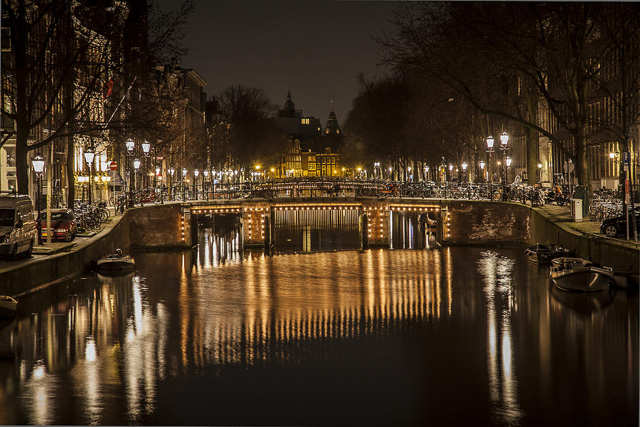 Bridges Of Amsterdam Photograph  - Bridges Of Amsterdam Fine Art Print