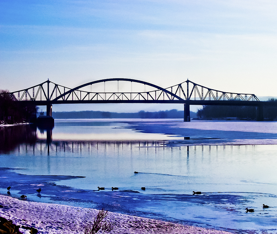 Cantilever Bridge Photograph - Bridges Over The Mississippi by Christi Kraft