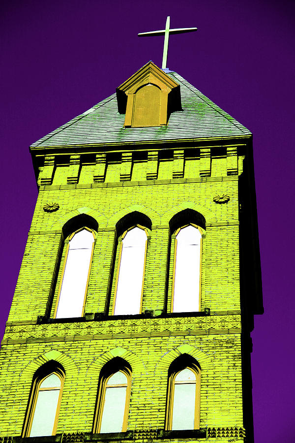 Bright Cross Tower Photograph  - Bright Cross Tower Fine Art Print