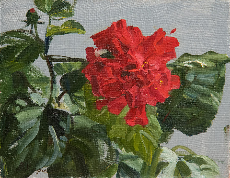 Bright flower painting by victoria kharchenko for Bright flower painting