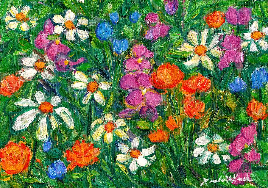 Bright flowers painting by kendall kessler for Bright flower painting