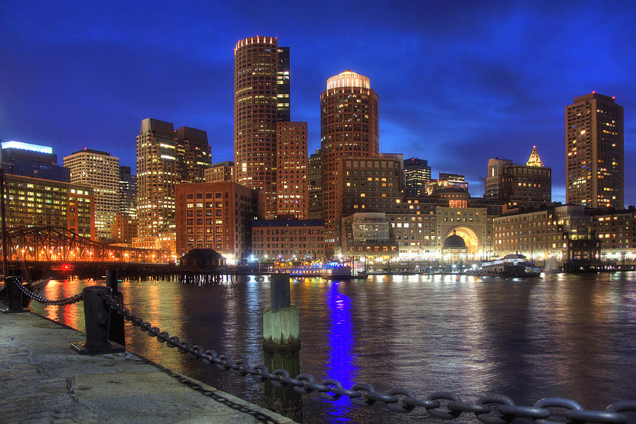 Bright Lights Boston Photograph