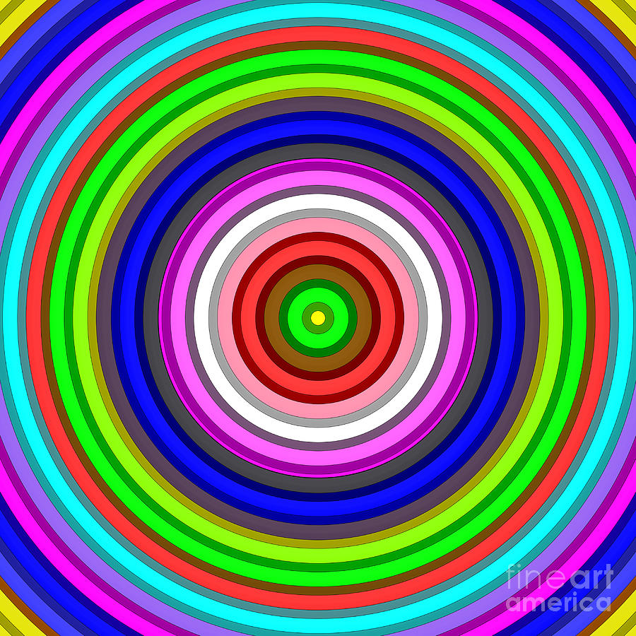 bright vibrant color circles digital art digital art