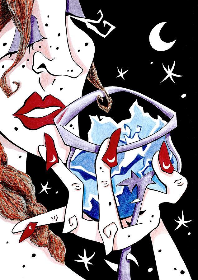 Brindis - Cata De Vino - Mujer - Arte Y Seduccion Drawing